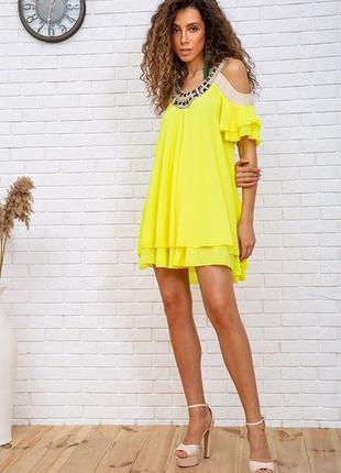 Туника, цвет жёлтый