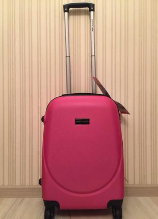 Люкс качество чемодан пластиковый польша валіза пластикова доставка самовывоз