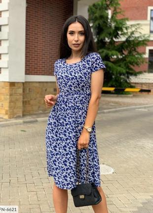 💙🤍синее платье штапель 🤍💙