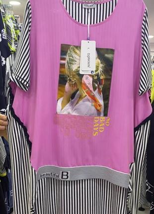 Женская футболка длинная блуза блузка туника турция натуральный большого размера туреччина 52 54 56 58 60 62 64 66 68 70 72