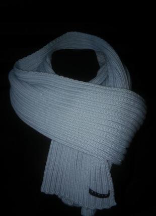 Нежно-голубой хлопковый шарф