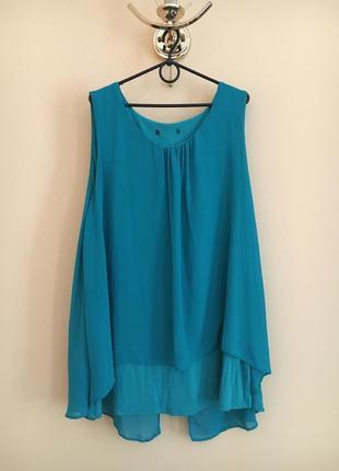 Батал большой размер летняя яркая майка маечка блуза блузка блузочка