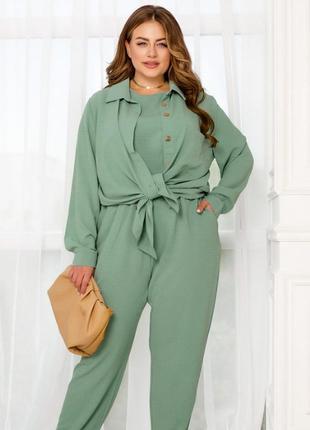 Элегантный и стильный костюм тройка рубашка майка и брюки + бесплатная доставка🌷