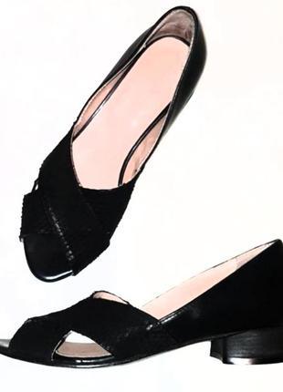 Летние туфельки. из кожи натуральной италия