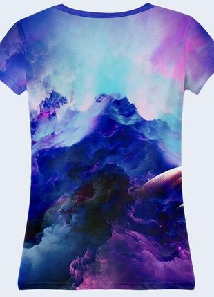 Классная футболка 3d комонавт в космосе2 фото