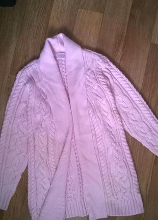 Шикарная вязанная  длинная кофта,свитер,кардиган.