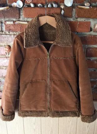 Меховая искусственная дублёнка куртка
