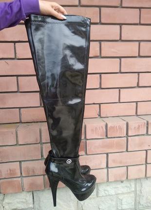 Лаковые ботфорты-42 размер