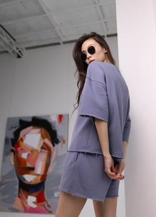 Летний женский комплект шорты и футболка