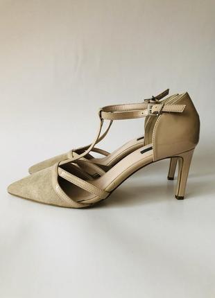 Бежевые женские туфли/жіночі туфлі kiomi