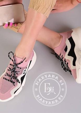 Яркие летние кроссовки / пудровые3 фото