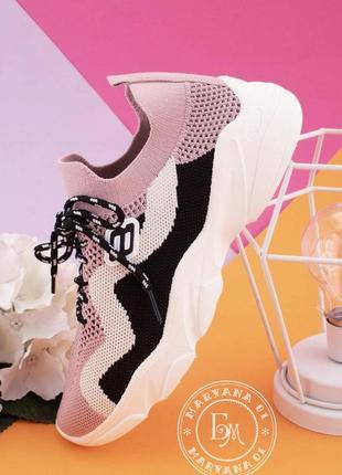 Яркие летние кроссовки / пудровые2 фото
