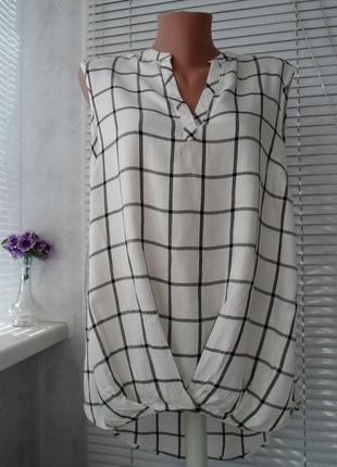 Стильная блуза - рубашка, вискоза