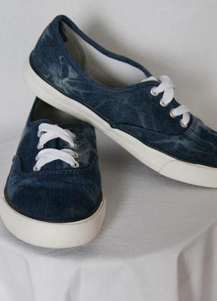 Тапки джинсовые на шнурках