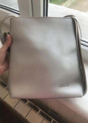 Сумка серебро сумка через плечо кроссбоди