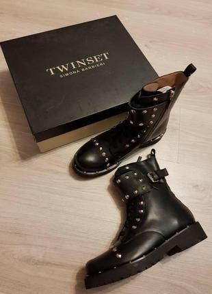 Кожаные ботинки twin set