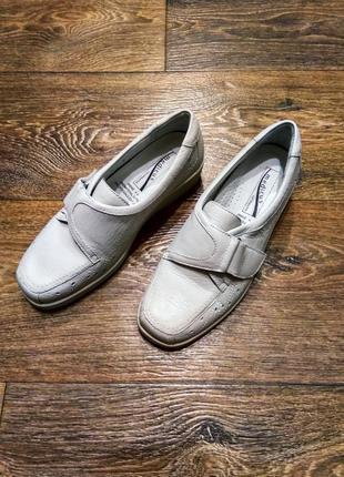 Удобные кожаные туфли с ортопедической стелькой medicus