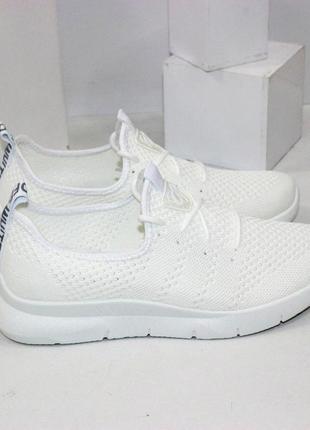 Кроссовки летние текстиль белые серые2 фото
