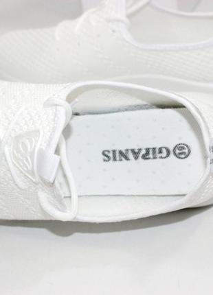 Кроссовки летние текстиль белые серые5 фото