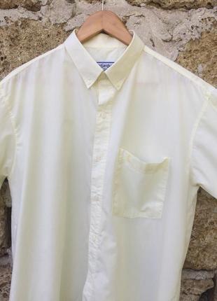 Легкая французская оверсайз рубашка на короткий рукав от yves saint laurent