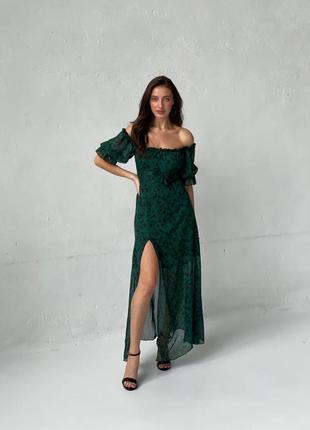Шифоновое платье миди в принт