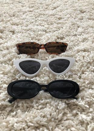 Черные солнцезащитные очки 🕶 овальной формы очки ретро