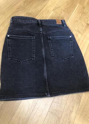 Коротка джинсова спідниця короткая джинсовая юбка мини стресс