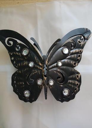 Подсвечник в форме бабочки,металлический