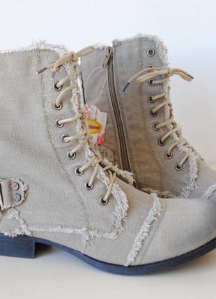 Ботинки летние graceland из мешковины новые 39 размер.