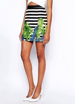 1+1=3 юбка с тропическим принтом