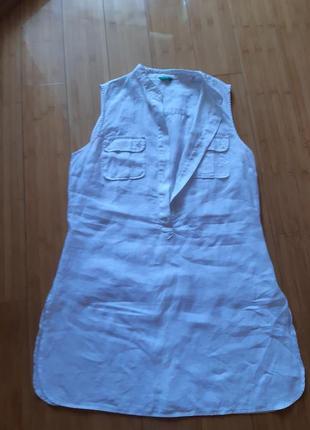 Платье рубашка льняная