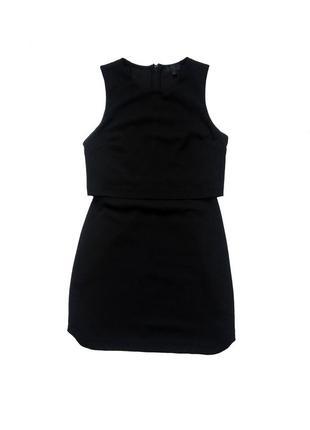 Стильное оригинальное черное вечернее платье topshop