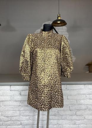 Блестящие вечернее платье леопардовое блискуче вечірнє плаття