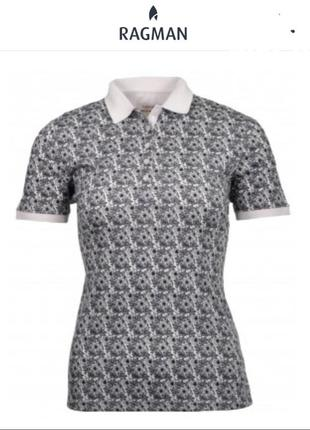 Женская рубашка футболка-поло ragman (размер 40)