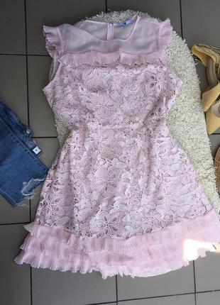 Платье ажурное кружевное плаття сукня мереживна сарафан туника миди