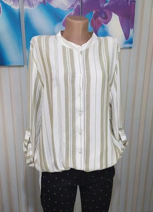 Красивенная натуральная рубашка свободный крой интересная спинка
