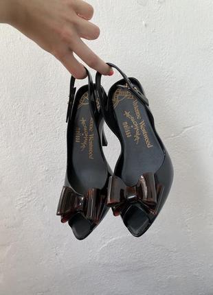 Туфли босоножки melissa на каблуке силиконовые