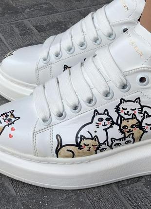 Кроссовки женские в стиле alexander mcqueen white/cat