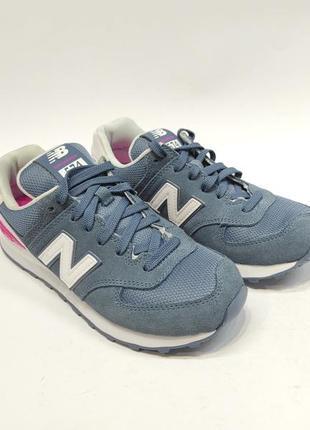 Кросівки жіночі new balance 574 сині замш оригінал нові2 фото