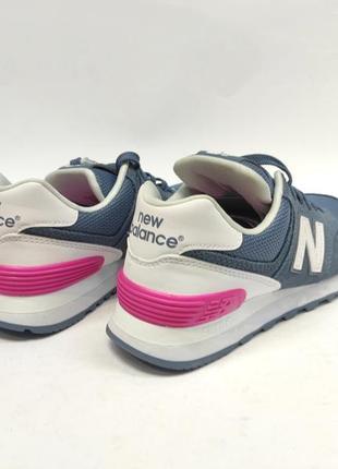 Кросівки жіночі new balance 574 сині замш оригінал нові4 фото