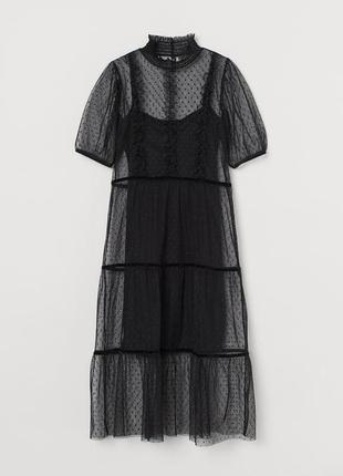Стильное платье h&m сетка фатин