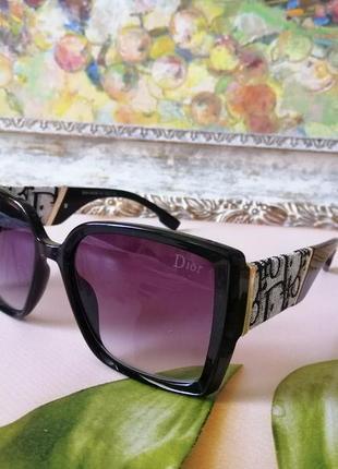 Эксклюзивные черные брендовые солнцезащитные женские очки 2021