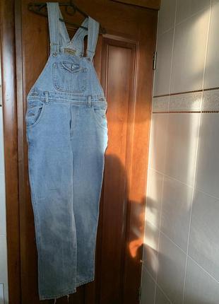 Джинсовый mom комбинезон джинсы