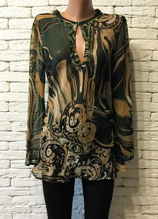 Шифоновая блуза , расшита бисером