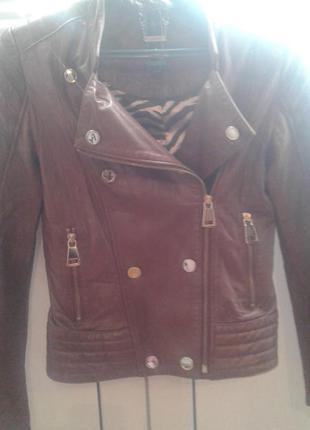 Куртка косуха рыжая  кожа!!!lebeni италия