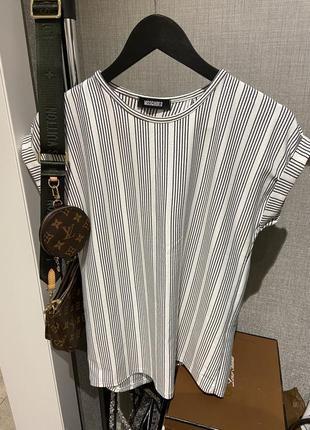 Стильная футболка топ блуза в полоску missguided