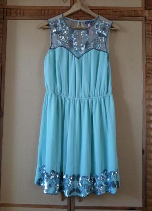 Нарядное платье цвета tiffany