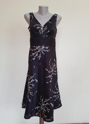 Шикарное вечернее коктейльное платье шёлк лен  monsoon