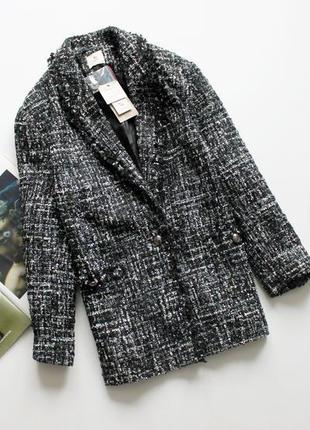 Классный твидовый пиджак