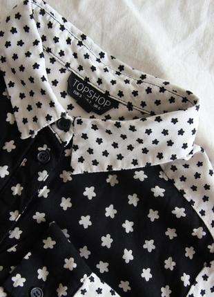 Оригинальная черно - белая блузка из вискозы4 фото